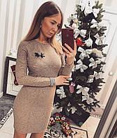 Платье Наоми с брошью, фото 1