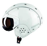 Горнолыжный шлем с визором Casco SP-6 visor white vautron (MD)