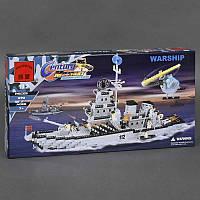 """BRICK 112 """"Военный Корабль"""", 970 дет, в коробке СОБРАННЫЙ"""