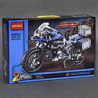 Детский конструктор Мотоцикл, байк 603 дет, в коробке. Детский игровой набор для мальчиков
