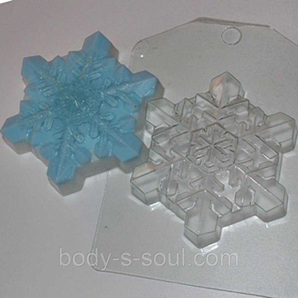 Пластикова форма для мила Сніжинка кришталева