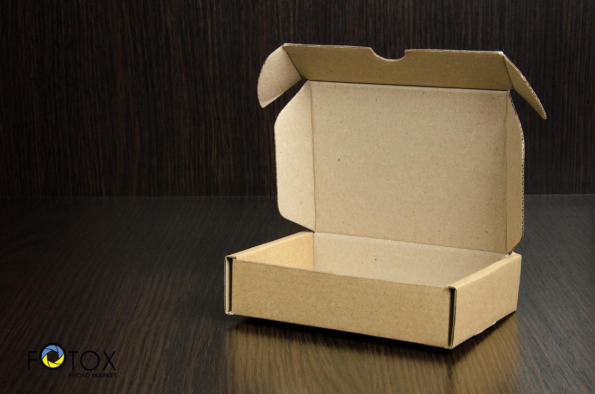 Картонная коробка, самосборная, бурая 12х9х3 см (от 50шт)