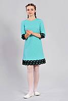 Нарядное подростковое платье для девочки с кружевом