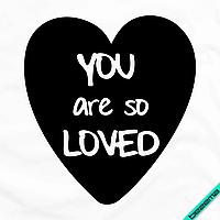 """Картинки на гетры Сердце """"You are so loved"""" [Свой размер и материалы в ассортименте]"""