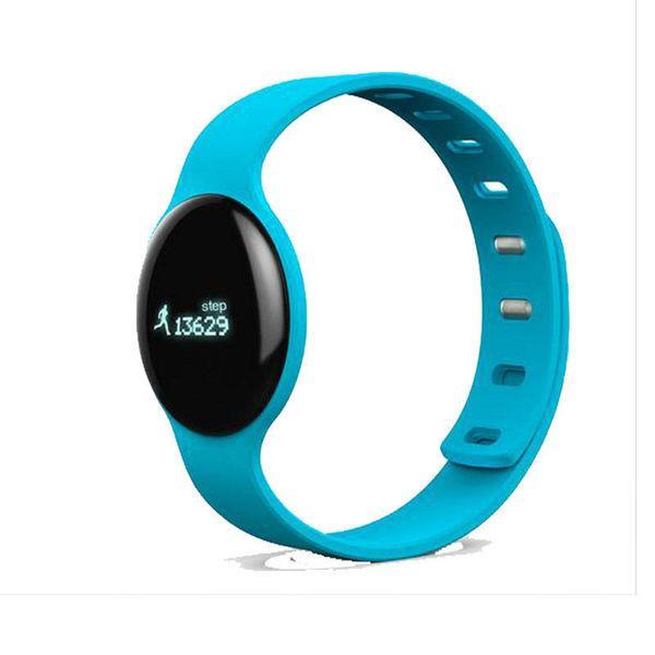 Смарт фитнес-браслет Makibes TLW08 голубой Bluetooth 4.0 пылевлагозащита IP66