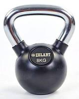Гири чугунные с резиновым покрытием 8 кг, фото 1