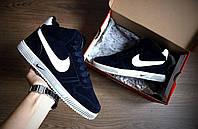 Зимние кроссовки мужские Nike Blazer Dark Blue