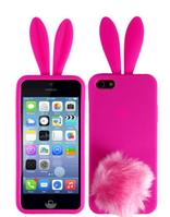 """Силиконовый чехол """"Зайчик Rabito"""" iphone 5/5s розовый"""