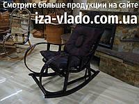Кресло-качалка из лозы Бук тёмно-коричневая +
