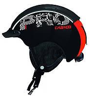 Горнолыжный шлем Casco mini pro black-neonred (MD)