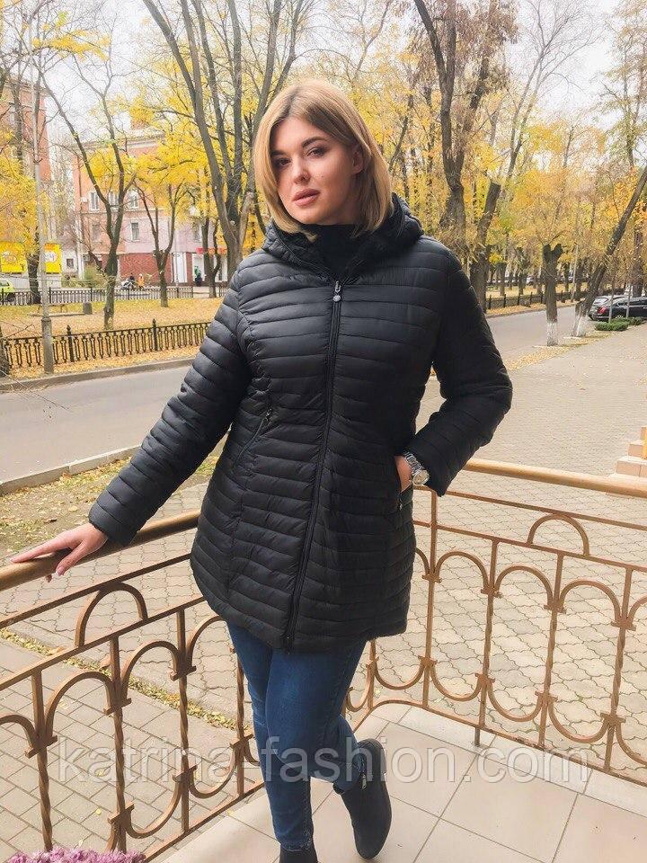 Женская модная удлиненная куртка осень весна батал (2 цвета ... d939be840e7