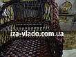 Кресло плетеное из лозы — тёмный лак, фото 4