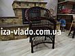 Кресло плетеное из лозы — тёмный лак, фото 5