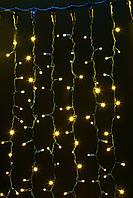 Гирлянда внешняя DELUX CURTAIN 912LED 2x3m желтая/черный IP44, фото 1