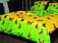 """Полуторное постельное белье """"Gold"""" бабочки"""