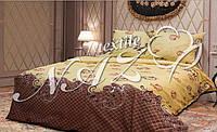 """Полуторное постельное белье """"Gold"""" бежево-коричневого окраса"""