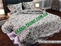 """Комплект полуторного постельного белья """"GOLD"""" - доллары"""