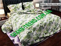 """Комплект полуторного постельного белья """"GOLD"""" - зеленые цветы"""