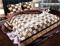 """Комплект полуторного постельного белья """"GOLD"""" Louis Vuitton"""