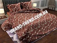 """Комплект полуторного постельного белья """"GOLD"""" - бежевые узоры"""