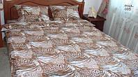 Комплект полуторного постельного белья Gold - тигровый окрас