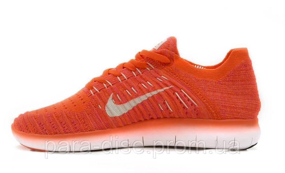 Женские беговые кроссовки Nike Free RN Flyknit Coral Копия -  Интернет-магазин Paradise в Киеве 1516130041b
