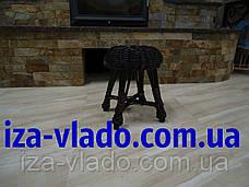 Табурет кухонный плетеный из лозы ( Гриб 2), фото 2