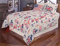 Постельный полуторный комплект Gold британский флаг