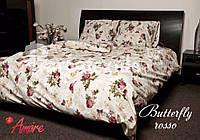 """Полуторный постельный комплект """"Gold"""" бабочки"""