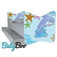 """Детская кровать Junior BABY BOO + ящик + матрас 140 х 70см """"Дельфин"""""""