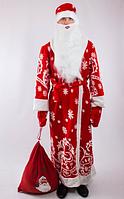 Костюм Деда Мороза со снежинками (взрослый),р.52-54
