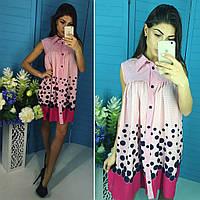"""Платье мини - туника """"Нежность"""" из креп-шифона. Оригинальная модель, разные размеры."""