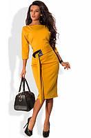 Платье-футляр миди из трикотажа джерси