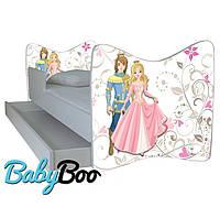 """Детская кровать Junior BABY BOO + ящик + матрас 140 х 70см """" Принц и принцесса"""""""