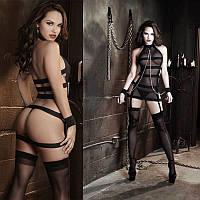 Сексуальное боди с наручниками и подвязками