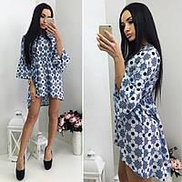 """Платье мини - туника """"Нежный цветок"""", ткань супер-софт. Оригинальная модель, разные цвета., фото 1"""