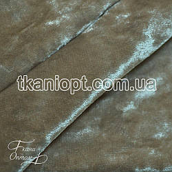 Ткань Бархат мрамор (серо-бежевый)
