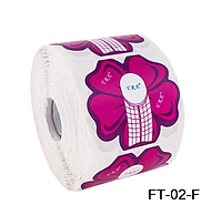 Форма для наращивания ногтей цветок, форма YRE FT-02-F, формы технология