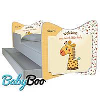"""Детская кровать Junior BABY BOO + ящик + матрас 140 х 70см """"Жираф"""""""