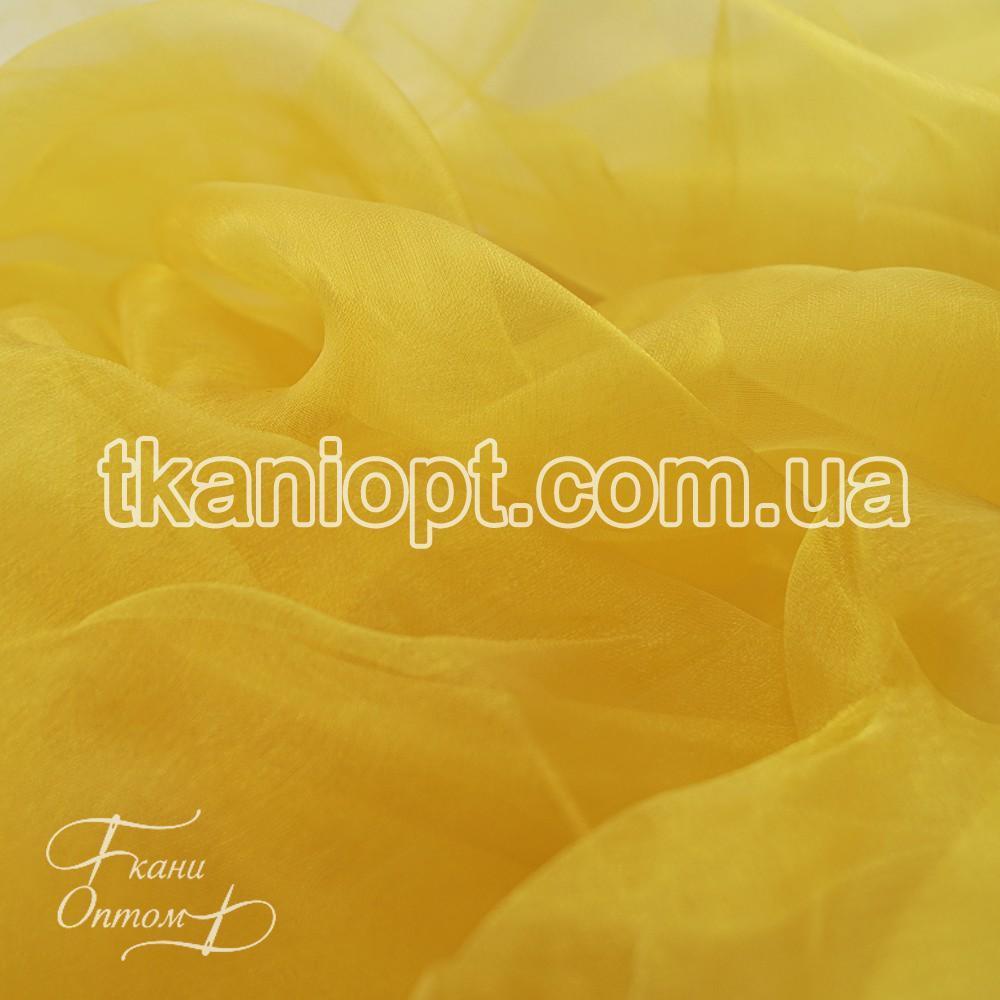 Ткань Органза шиммер (тепло-желтый)