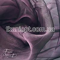 Ткань Органза шиммер (баклажан)