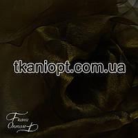 Ткань Органза шиммер (хаки)