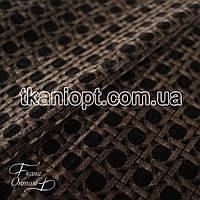 Ткань Замш обивочный (черный-коричневый)