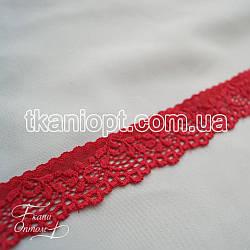 Ткань Кружево 3см (красный)