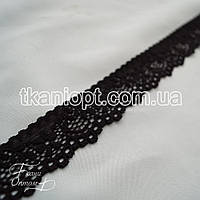Ткань Кружево 3см (черный)