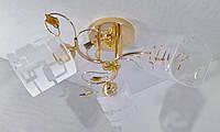 Люстра потолочная на 3 лампочки YR-5300/3-gd