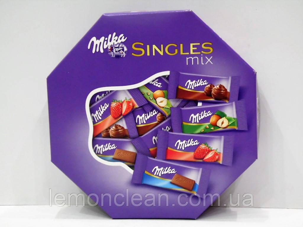 Набор шоколадных конфет Milka Singles mix 138г