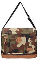"""Стильная мужская наплечная сумка А4 с отделением для ноутбука15,6"""" Enrico Benetti Fortaleza Eb54421997 Зеленый"""