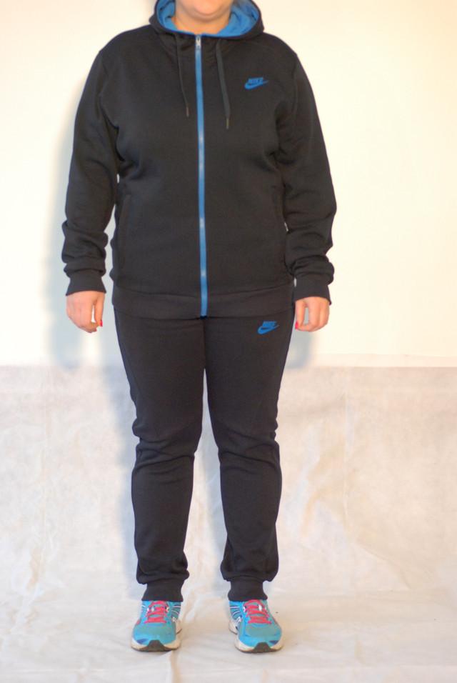 f6f12d01 Женский тёплый спортивный костюм Nike 77088 темно синий код 042А ...