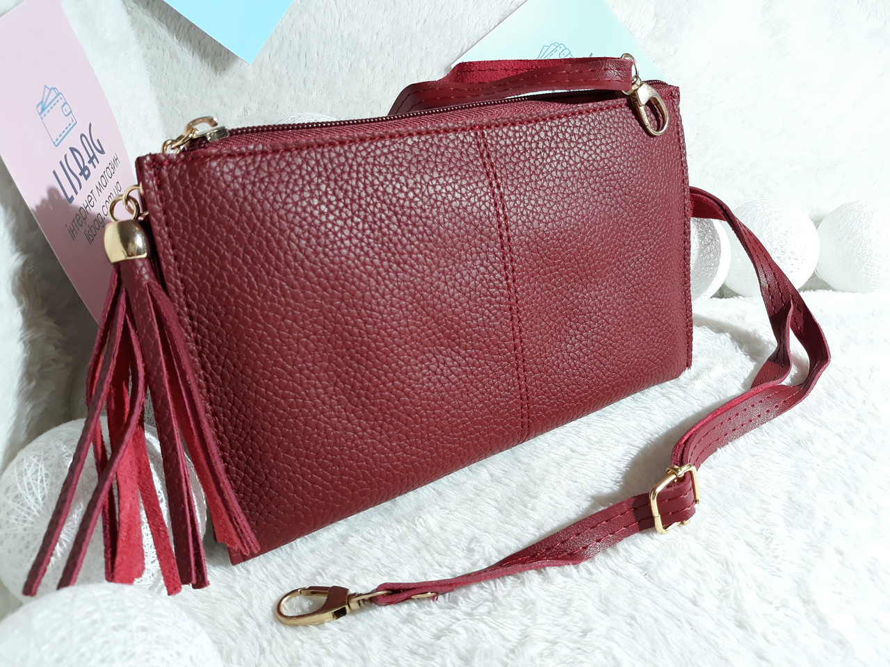 94fb898491d8 Маленькая женская сумка 2в1 (клатч,сумка) бордовая, цена 205 грн., купить в  Умани — Prom.ua (ID#615474253)